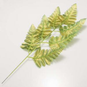 Other Leaves, Plastic, Gold colour, green, 38cm x 14cm [approximate], 2 pieces, [ST880]